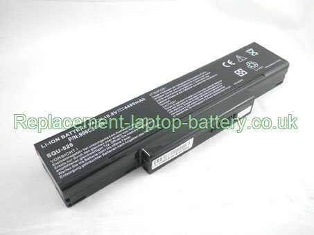 Replacement Laptop Battery for  4400mAh Long life MSI BTY-M68, CBPIL72, BTY-M67, BTY-M66,