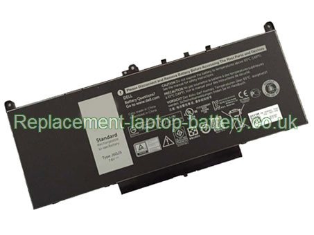 7.6V Dell 1W2Y2 Battery 55WH