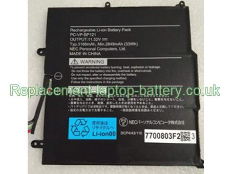 PC-VP-BP121 Nec Replacement Laptop Battery