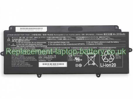 FPB0340S Battery, Fujitsu FPCBP536 FPB0340S CP737634-01 LifeBook U937 Replacement Laptop Battery