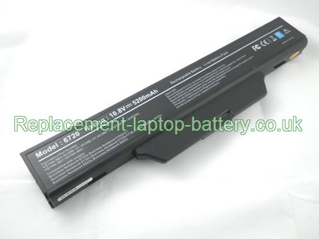 HP Business Notebook 6720s, 6730s, 6735s, 6820s, 6830s, GJ655AA, HSTNN-IB51, HSTNN-IB52 Laptop Battery 4400mAh