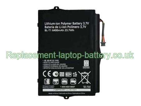 LG BL-T1 Optimus Pad V900 Optimus Pad L-06C Tablet Battery Replacement