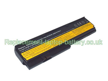 Lenovo IBM FRU 42T4538, ASM 42T4539, Thinkpad X200 Series Battery