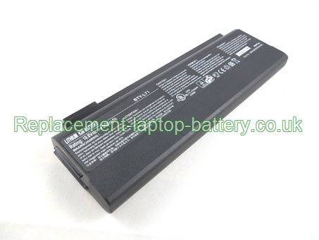 Replacement Laptop Battery for  6600mAh Long life LG 925C2240F, BTY-M52, K1-222DR, K1-223VG,