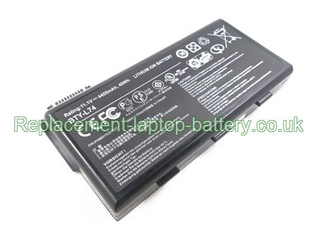 MSI BTY-L74, CX600X A5000 A6000 CR700 CX600 Battery 6-Cell