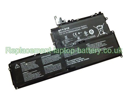 BTY-S1E Battery, MSI BTY-S1E Slidebook S20 Ultrabook Battery Replacement