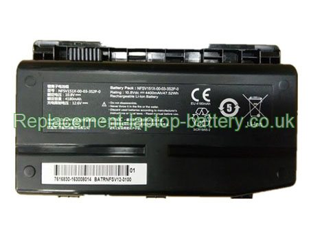 NFSV151X-00-03-3S2P-0 Battery, Mechrevo NFSV151X-00-03-3S2P-0 NFSV151X F1 F117 X6TI X6TI-M2 Replacement Laptop Battery