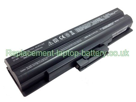Sony VGP-BPS13, VGP-BPS13/B, VAIO VGN-FW11 VGN-FW11M Replacement Laptop Battery 6-Cell