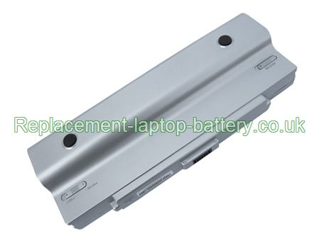 12-Cell Sony VGP-BPL9, VGP-BPS9, VGP-BPS9/S, VAIO VGN-AR CR NR Series Replacement Laptop Battery Silver