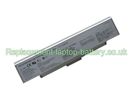 Sony VGP-BPS9, VGP-BPS9/S, VGP-BPS9A/B, VAIO VGN-AR CR NR Series Replacement Laptop Battery Silver