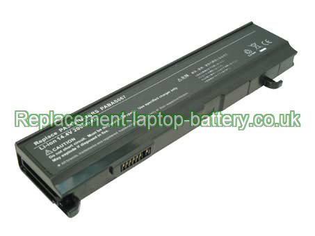 4-Cell Toshiba PA3451U-1BRS, PA3451U Satellite A100 A80 A85 M115 M45 M50, Satellite Pro M7 Replacement Laptop Battery
