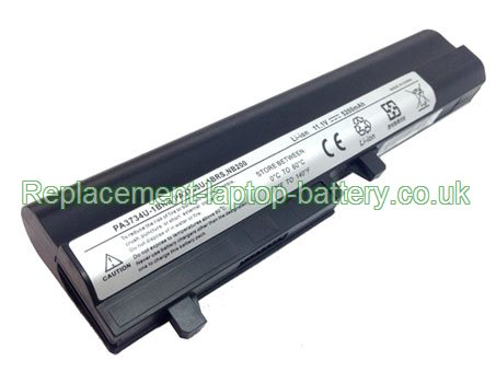 Toshiba PA3733U-1BRS PA3732U-1BAS PA3734U-1BRS NB200 Mini NB205-N2xx NB255-N2xx Series Battery Replacement 6-Cell