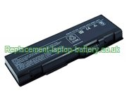 Dell U4873, D5318, F5635, G5260, Inspiron 6000 9200 9300 9400 Inspiron E1705 XPS M1710 Replacement Laptop Battery 4400mAh