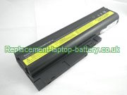 Replacement Laptop Battery for  4400mAh LENOVO ThinkPad R61e 7650, ThinkPad R61i 8932, ThinkPad T61 6457, ThinkPad T61 8895,