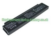 Replacement Laptop Battery for  4400mAh MSI 925C2310F, BTY-L71, BTY-M52, Megabook L740,