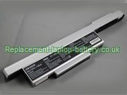 MSI BTY-M65, M655 M660 M662 M670 M673 M675 M677 Battery Silver